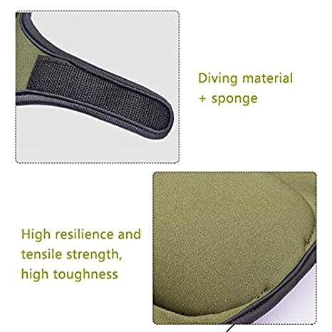 LAMF 1 Pair Gardening Soft Knee Pads Memory Foam Protectors Professional Kneepad with Double Straps for Home Garden Cleaning Work Scrubbing Floors Pruning Roofing Army Green