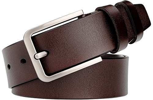 WERFORU Genuine Leather Square Buckle