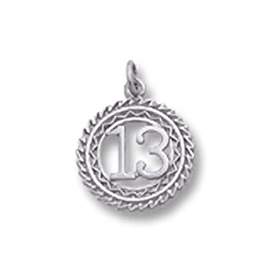 f7aa2c671964b Number 13 Charm, Charms for Bracelets and Necklaces