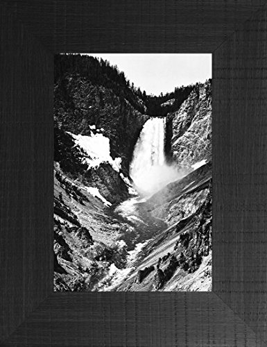 Yellowstone Falls By Ansel Adams 26x20 Glacier Montana Grand Teton National Park Yellowstone Western Wyoming Framed Art Print Wall Décor - Mountain Log Furniture Rocky