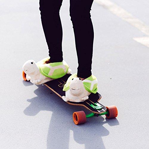 Funslippers - Zapatillas de estar por casa para ninos mujer e hombre e adultos tortuga verde