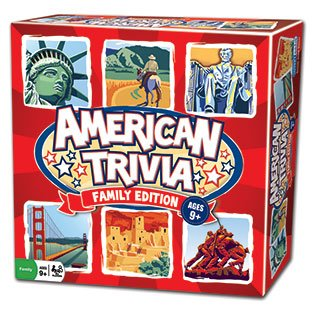 Trivia Game - American Trivia Family Edition - the America Themed Family (Family Trivia Game)
