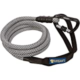 Phydeaux's Mountain Climbing Rope Dog Leash - 6 ft Long (TV Static) - Heavy Duty - Extra Thick Rope, Locking Carabiner, Perfect for Medium and Large Dogs