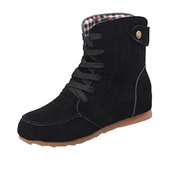 zapatos de mujer tacon fiesta, Botas de moto de nieve plana para mujer botas de