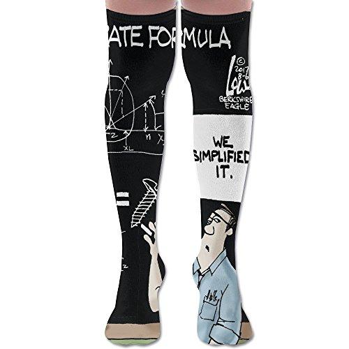 Men Women Doctor Blackboard Mathematical Formula Premium Novelty Knee High Athletic Sock Outdoor Gift ()