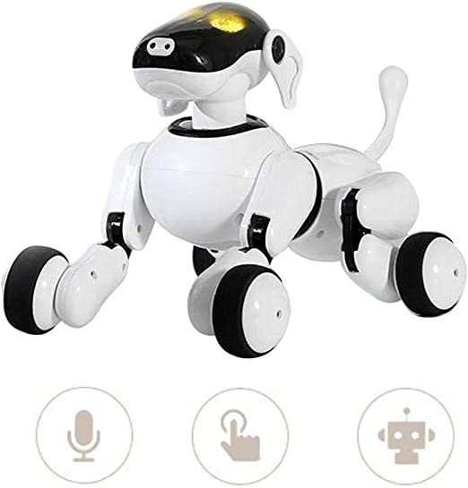 Jadpes Smart Robot Dog Toy, Intelligent Smart Touch Voice