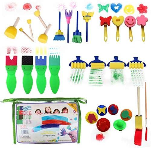 29PCS子供の芸術の絵画セット/落書きの芸術のブラシ/スポンジシールの画材/DIYの芸術のおもちゃの供給、子供2-6歳に適した