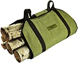 fireplace log tote with stand - Sergisson Firewood Tote - Log Tote Bag - Wood Carry Carrying Bag - Fireplace Fire Log Carrier Tote