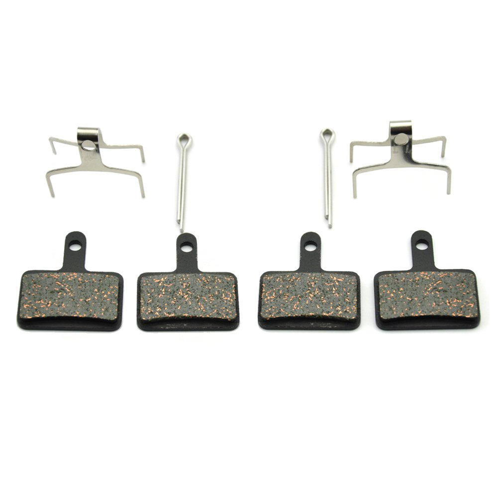 Bike Disc Brake Pads for Shimano DS-01S M355 M395 M446 M485 M495 Replacement Pads for Tektro Orion Gemini Auriga Draco Made Of Kevlar Fiber and Copper Stronger Braking Power Less Noise (For-Shimano) by ODIER