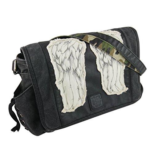 - The Walking Dead Daryl Wings Mini Messenger Bag - Black