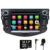 NVGOTEV,Car Stereo GPS Navigator for Toyota RAV4 2006-2012, Double Din Head Unit 7