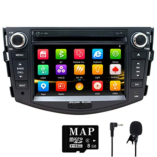 - NVGOTEV,Car Stereo GPS Navigator for Toyota RAV4 2006-2012, Double Din Head Unit 7 Inch 2 Din Car Stereo with DVD CD Player Support GPS, USB SD, FM AM RDS, Bluetooth, SWC(Wince 6.0 System)