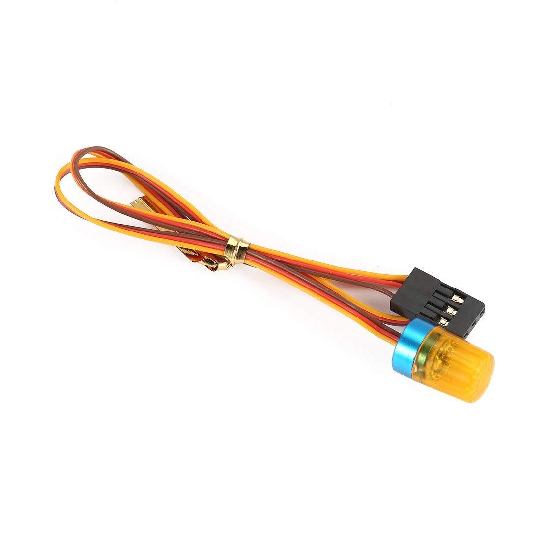 LouiseEvel215 AX-511 Circular Ultra Brillante Luz LED Estrobosc/ópico-destellando Modo de rotaci/ón r/ápida-Lenta RC Polic/ía Ambulancia contra Incendios Coche