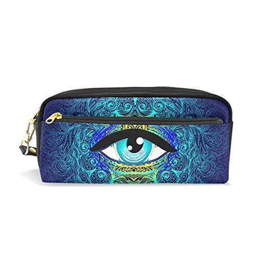 U Life Pencil Bag Pouch Case Pen Holder Box with Zipper for School Boys Girls Kids Sacred Eyes Halloween Mandala Vintage