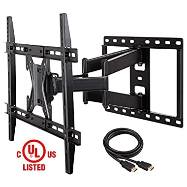 Mounting Dream MD2296 UL Certified TV Wall Mount Bracket for most 26-55 Inch LED, LCD and OLED Flat Screen TV, with Full Motion Swivel Articulating Arm, up to VESA 600 x 400mm and 100 lbs