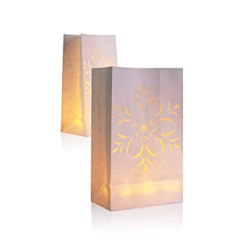 Amazon.com: 30 paquetes Luminary linterna de papel, papel ...