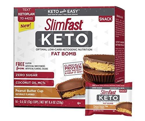 Slimfast Keto Peanut Butter Cup Fat Bomb 0.59 oz 14 per Box (4 -
