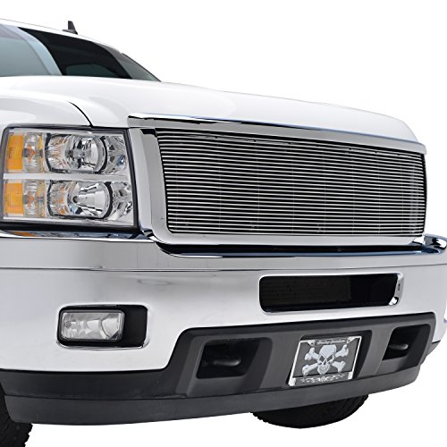 Billet Chrome Grille Shell - E-Autogrilles 11-14 Chevrolet Silverado 2500HD/3500HD Polished Aluminum Billet Grille with Chrome ABS Shell (42-0823)