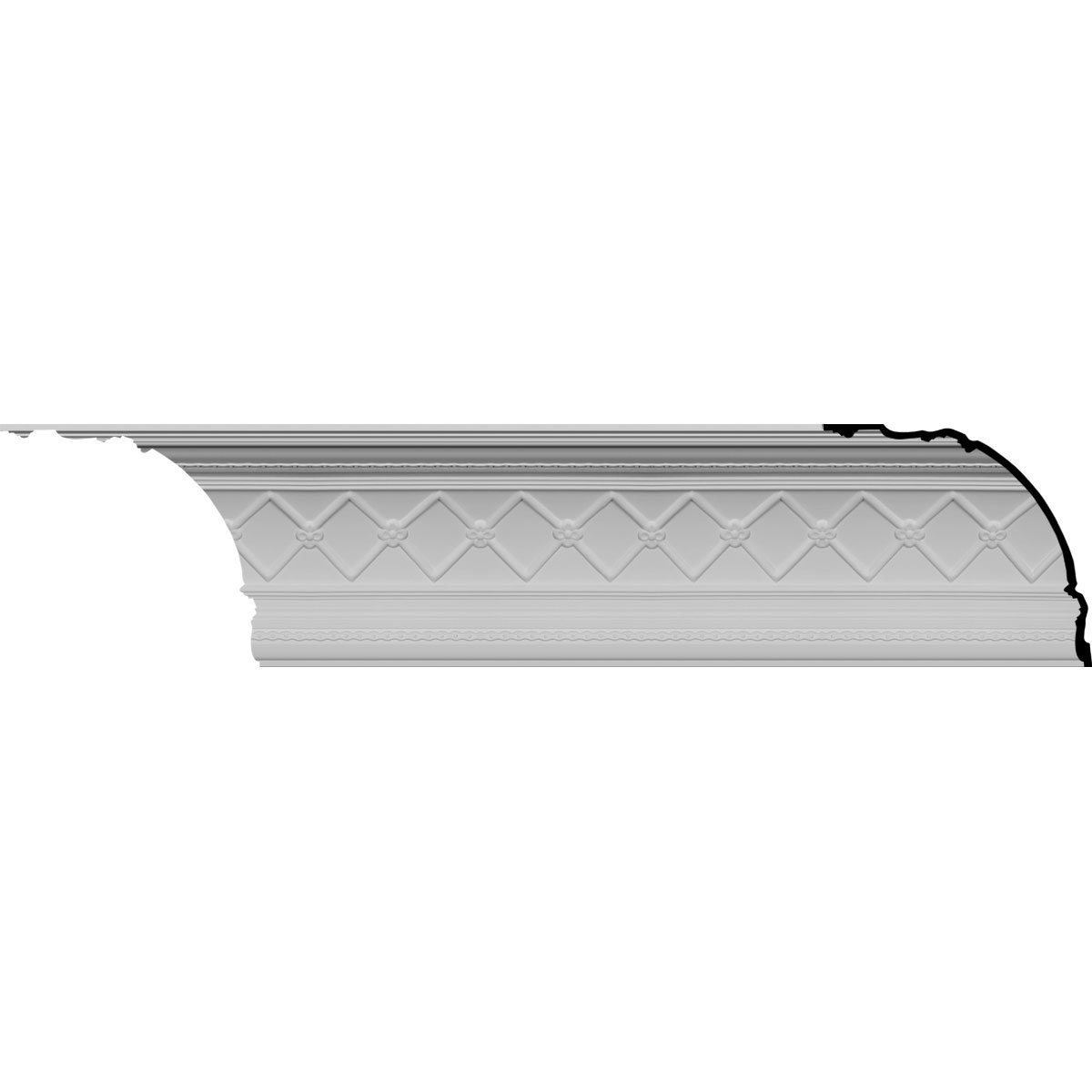 Ekena Millwork MLD18X16X24BR-CASE-12 18-1/4'' H x 16-3/8'' P x 23-7/8'' F x 82'' L Brighton Crown Molding (12-Pack)