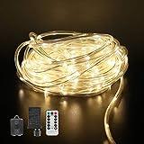 LED Rope Lights,8 Mode,50ft 200 LED,Warm
