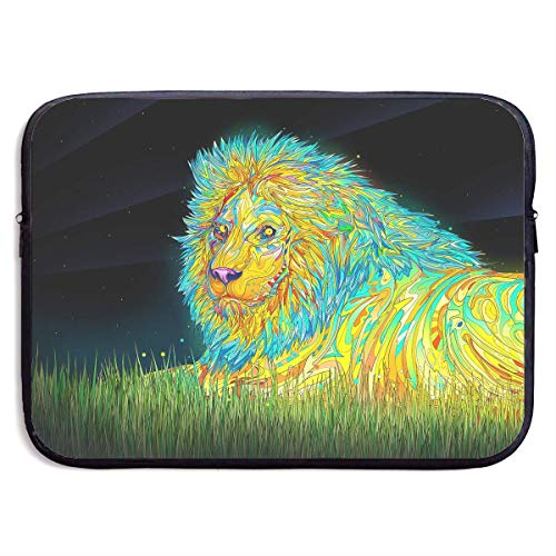 CHJOO Laptop Sleeve Bag Cool Colorful Lion Art 13/15 Inch Br