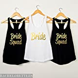 Bride shirts,Bachelorette party shirts,Bachelorette tank tops, bridesmaid gifts, bride squad tanks, bridal party