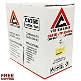 CAT5E PLENUM 1000FT 350MHZ 24AWG WHITE SOLID NETWORK CABLE CMP