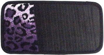 Snow Grey Leopard Animal Print 10 CD//DVD Car Visor Organizer