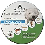 Dog Flea Treatment Collar - [New 2017 Version] Flea and Tick Collar for SMALL Dogs and Puppies - Best Natural Pet Protection Kills, Repels, & Prevents Fleas, Pests, Insects GUARANTEE for 3 Months - Waterproof