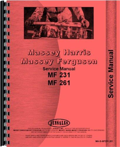 Massey Ferguson 231 261 Tractor Service Manual (MH-S-MF231,261)