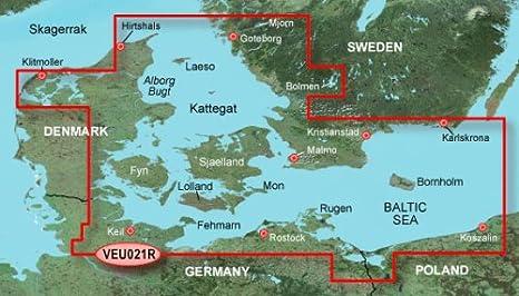 Garmin BlueChart g2 Vision VEU021R - Software de navegación (Dinamarca Este, Suecia Sureste, VGA 1024 x 768 px USB Ethernet, 1024 MB, Intel, PowerPC G4)
