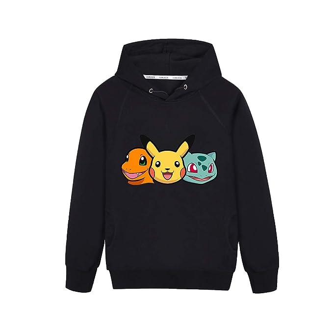 Unisex Pokemon Lindo Sudadera Impresión de Dibujos Animados Sudaderas con Capucha de Manga Larga con Capucha Abrigo Suéter para Hombres y Mujeres con ...