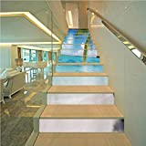 Staircase Stickers Home Decal Wallpaper, Summer