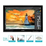 Huion Professional 2048 Levels Pressure Sensitivity Pen Display Graphic Tablet Monitor GT-190 with a Digital Pen