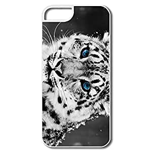 For SamSung Galaxy S5 Mini Phone Case Cover Snow Blue Eye Leopard For SamSung Galaxy S5 Mini Phone Case Cover - White Hard Plastic