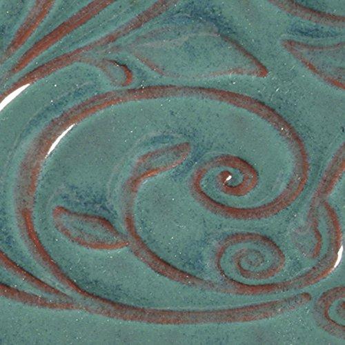 AMACO Opalescent Glaze, Turquoise O-26, 1 Pint