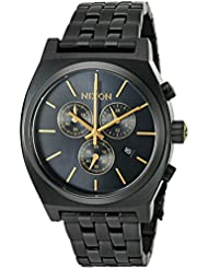 Nixon Mens Time Teller Chrono Quartz Stainless Steel Casual Watch, Color:Black (Model: A9721031-00)