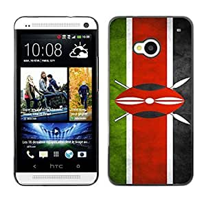 Shell-Star ( National Flag Series-Kenya ) Snap On Hard Protective Case For HTC One (M7)