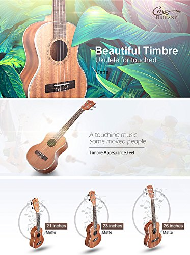 Hricane Tenor Ukulele 26inch Professional Ukelele For Beginners Hawaiian Uke UKS-3 Bundle with Gig Bag - Image 7