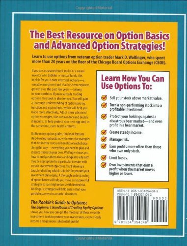The Rookie's Guide to Options: The Beginner's Handbook of Trading Equity Options by Brand: Options for Rookies Books