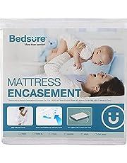 Bedsure 100% Waterproof Zippered Mattress Encasement 6 Sided Mattress Cover