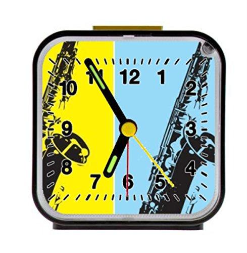 Jazz musical instrument dAlarm Clock Alarm Clock Home Kitchen Decorative 3.27Inchd by LSS Trading