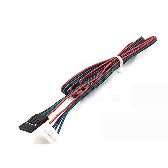 UEETEK 10 Piezas Cable para Motor de impresora 3D paso a paso HX2.54 4 pin a 6 pin Cable conector 1M
