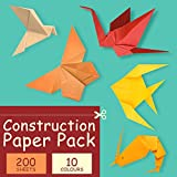 Construction Paper Pack, 200Sheets Heavy Duty