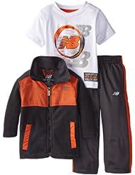 (新品)2.9折,$13.99,New Balance Infant Micro Polar新百伦橘色抓绒夹克短袖长裤