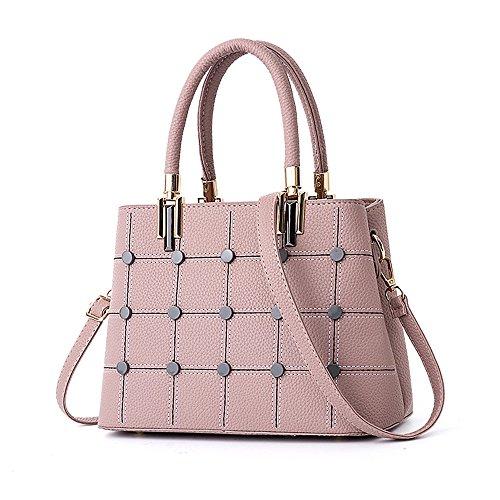 Pink Una Bolsa Hombro GWQGZ Sweet Sencillo Classic Dama Gules Sesgar Cómodo De Bolsa Bolso De Sola Y Spanning 8q4PwT
