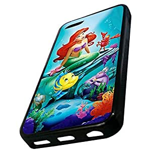 MMZ DIY PHONE CASEGeneric Custom The Little Mermaid and Sea Animas Under the Sea Ocean Printed Case For iphone 5/5s TPU (Laser Technology)