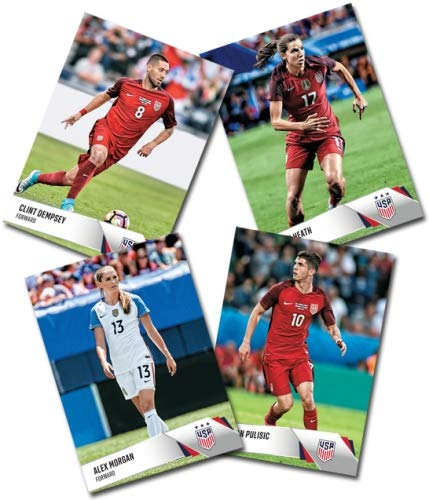 Panini 24-Card USA National Soccer Team Card Set. Both Women