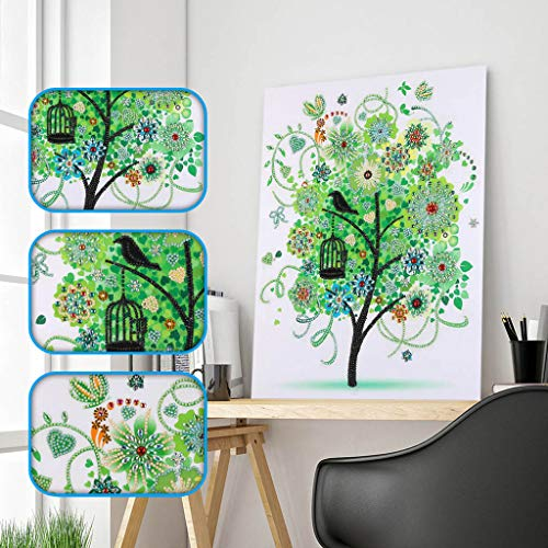 UmbWorld DIY 5D Diamond Painting, Crystal Rhinestone Diamond Embroidery Paintings Pictures Arts Craft by Number Kits for Adults Kids (Spring) ()