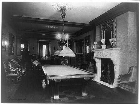 Foto: Mary Scott Townsend casa, sala de billar, mesa de billar ...